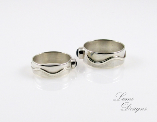 Rings 'Together' with moonstone and sterling silver (925)