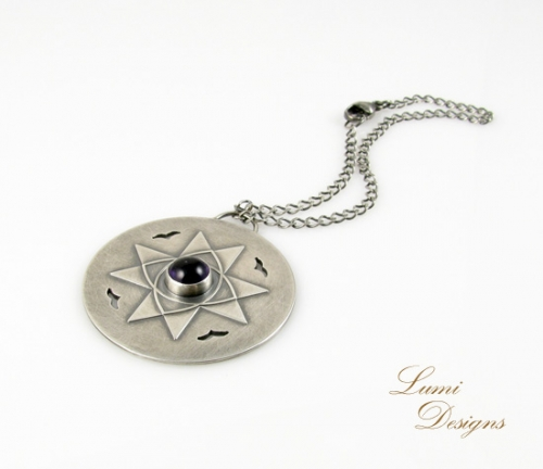 Pendant 'Heaven's Gate' with amethyst and sterling silver (925)