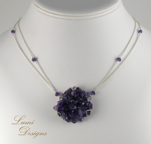 Necklace 'Crystal Mountain'