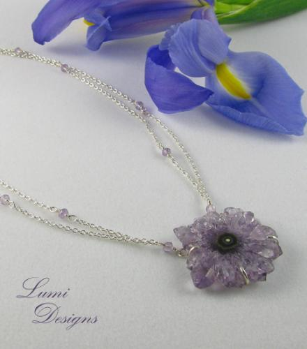 Necklace 'Crystal Flower'