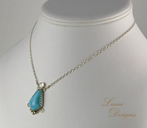 Necklace 'Sky and Sea'