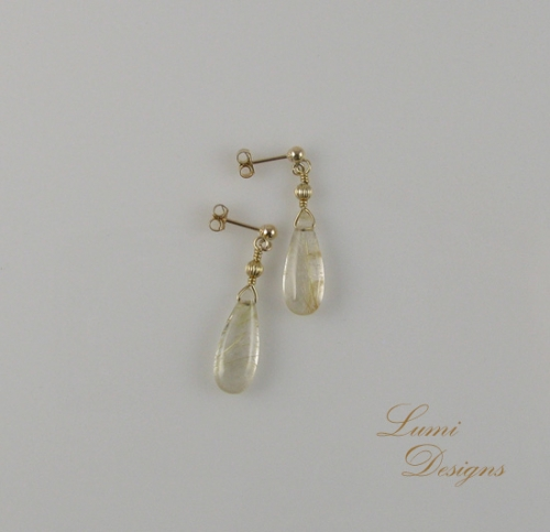 Earrings 'Angel's Hair'